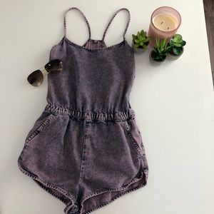 Top Shop Purple Stone Washed Romper